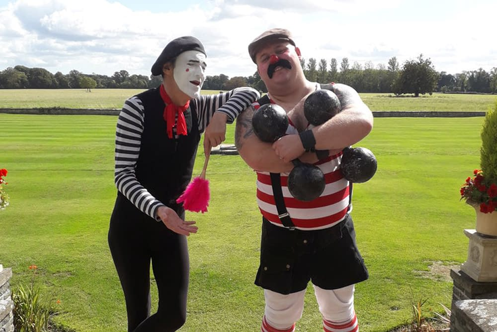 Mime and Strongman Steve